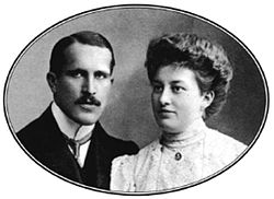 Gundel Károly and his wife